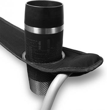 normani 2-Sitzer Campingstuhl Doppelklappstuhl Campingsofa bis 250 Kg inkl. Tragebeutel und Getränkhalter Farbe Schwarz - 5