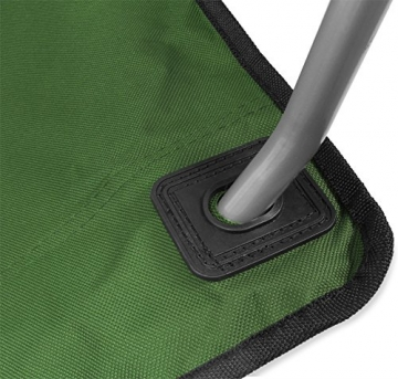 normani 2-Sitzer Campingstuhl Doppelklappstuhl Campingsofa bis 250 Kg inkl. Tragebeutel und Getränkhalter Farbe Oliv - 2