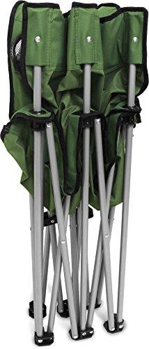normani 2-Sitzer Campingstuhl Doppelklappstuhl Campingsofa bis 250 Kg inkl. Tragebeutel und Getränkhalter Farbe Oliv - 4