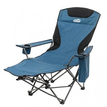 Qeedo Camping-Stuhl Johnny Relax bis 105 kg, Klappstuhl, Fußablage, Getränkehalter - blau - 2