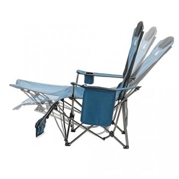 Qeedo Camping-Stuhl Johnny Relax bis 105 kg, Klappstuhl, Fußablage, Getränkehalter - blau - 3