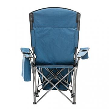 Qeedo Camping-Stuhl Johnny Relax bis 105 kg, Klappstuhl, Fußablage, Getränkehalter - blau - 5