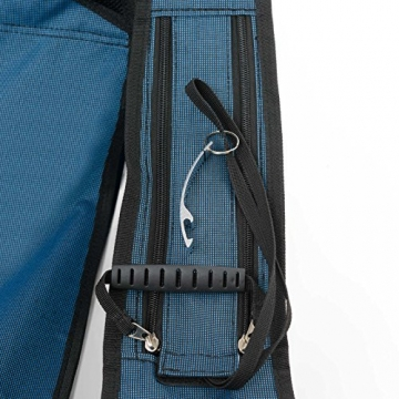 Qeedo Camping-Stuhl Johnny Relax bis 105 kg, Klappstuhl, Fußablage, Getränkehalter - blau - 7