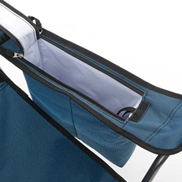 Qeedo Camping-Stuhl Johnny Relax bis 105 kg, Klappstuhl, Fußablage, Getränkehalter - blau - 8