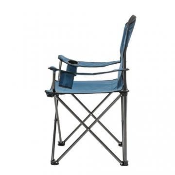 Qeedo Camping-Stuhl XL Johnny bis 150 kg, Klappstuhl mit Getränkehalter, Festivalstuhl - blau - 2