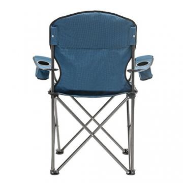 Qeedo Camping-Stuhl XL Johnny bis 150 kg, Klappstuhl mit Getränkehalter, Festivalstuhl - blau - 3
