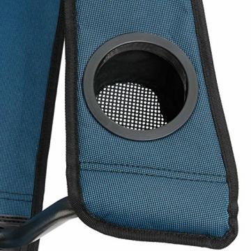 Qeedo Camping-Stuhl XL Johnny bis 150 kg, Klappstuhl mit Getränkehalter, Festivalstuhl - blau - 5