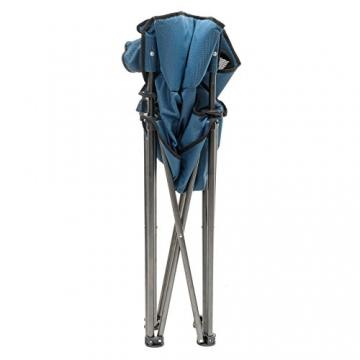 Qeedo Camping-Stuhl XL Johnny bis 150 kg, Klappstuhl mit Getränkehalter, Festivalstuhl - blau - 6