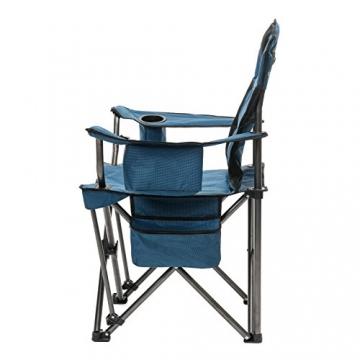 Qeedo Camping-Stuhl XXL Johnny Jumbo bis 250 kg, Klappstuhl mit Getränkehalter, Festivalstuhl - blau - 2