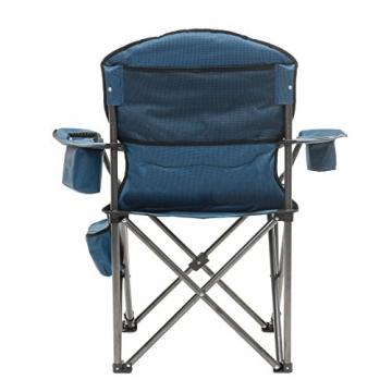 Qeedo Camping-Stuhl XXL Johnny Jumbo bis 250 kg, Klappstuhl mit Getränkehalter, Festivalstuhl - blau - 3