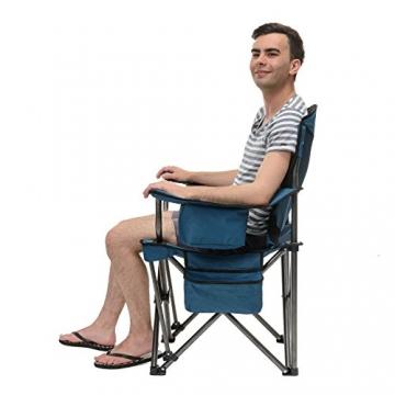 Qeedo Camping-Stuhl XXL Johnny Jumbo bis 250 kg, Klappstuhl mit Getränkehalter, Festivalstuhl - blau - 4