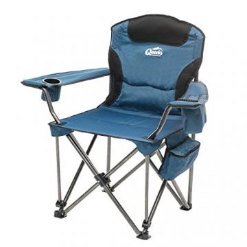 Qeedo Camping-Stuhl XXL Johnny Jumbo bis 250 kg, Klappstuhl mit Getränkehalter, Festivalstuhl - blau - 1