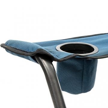 Qeedo Camping-Stuhl XXL Johnny Jumbo bis 250 kg, Klappstuhl mit Getränkehalter, Festivalstuhl - blau - 5
