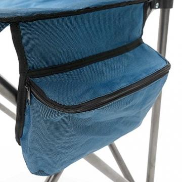 Qeedo Camping-Stuhl XXL Johnny Jumbo bis 250 kg, Klappstuhl mit Getränkehalter, Festivalstuhl - blau - 7