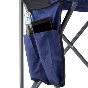 Relaxdays 4X Campingstuhl faltbar, Klappstuhl, mit Getränkehalter, mit Rückenlehne und Armlehne, HxBxT: 93x77x52 cm, blau-schwarz - 4