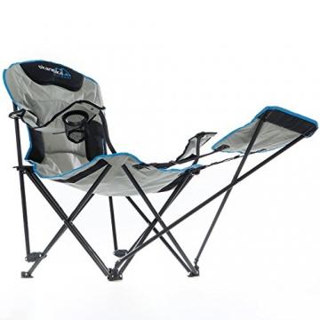skandika Campingstuhl Relax Stabiler Faltstuhl mit Beinauflage und Getränkehalter, bis 130 kg belastbar - 2