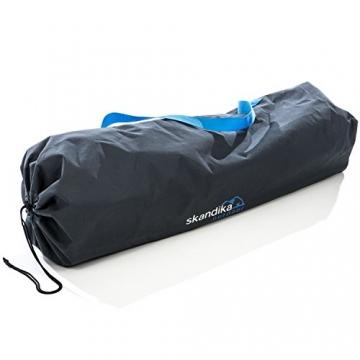 skandika Campingstuhl Relax Stabiler Faltstuhl mit Beinauflage und Getränkehalter, bis 130 kg belastbar - 4