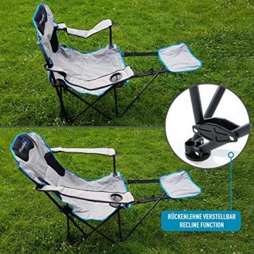 skandika Campingstuhl Relax Stabiler Faltstuhl mit Beinauflage und Getränkehalter, bis 130 kg belastbar - 5