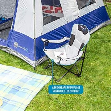 skandika Campingstuhl Relax Stabiler Faltstuhl mit Beinauflage und Getränkehalter, bis 130 kg belastbar - 6
