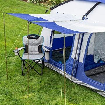 skandika Campingstuhl Single/Double Klappstuhl Faltstuhl bis 150/200 kg belastbar, Getränkehalter und Tragetasche (Campingstuhl Deluxe) - 6