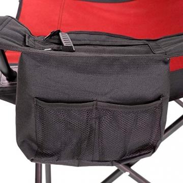 SONGMICS Campingstuhl, klappbar, Klappstuhl mit hoher Rückenlehne, mit Flaschenhalter und Kühltasche, komfortabel, Robustes Gestell, bis 250 kg belastbar, Outdoor Stuhl, rot und schwarz GCB10RB - 5