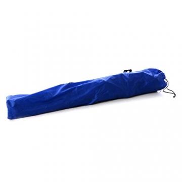 SONLEX Campingstuhl faltbar Angelstuhl klappbar blau grau bis 150 kg belastbar Faltstuhl mit Armlehne Getränkehalter Tragetasche Metallgestell Stahlrohr (blau) - 7