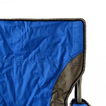 SONLEX Campingstuhl faltbar Angelstuhl klappbar blau grau bis 150 kg belastbar Faltstuhl mit Armlehne Getränkehalter Tragetasche Metallgestell Stahlrohr (blau) - 3
