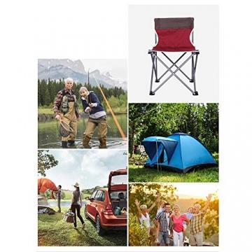 Tmendy Outdoor Camping Stuhl, tragbare leichte Klapp-Strandkorb mit Tragetasche, schwere 120 kg Kapazität für Wanderer, Camping, Strand (Farbe : Grün) - 2