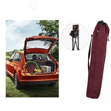 Tmendy Outdoor Camping Stuhl, tragbare leichte Klapp-Strandkorb mit Tragetasche, schwere 120 kg Kapazität für Wanderer, Camping, Strand (Farbe : Grün) - 3