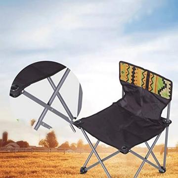 Tmendy Outdoor Camping Stuhl, tragbare leichte Klapp-Strandkorb mit Tragetasche, schwere 120 kg Kapazität für Wanderer, Camping, Strand (Farbe : Grün) - 4