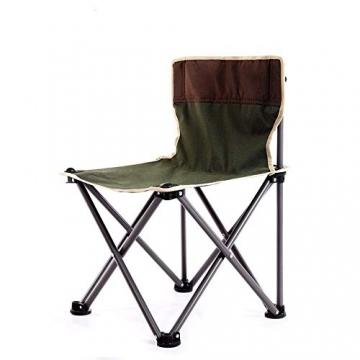 Tmendy Outdoor Camping Stuhl, tragbare leichte Klapp-Strandkorb mit Tragetasche, schwere 120 kg Kapazität für Wanderer, Camping, Strand (Farbe : Grün) - 1