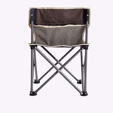 Tmendy Outdoor Camping Stuhl, tragbare leichte Klapp-Strandkorb mit Tragetasche, schwere 120 kg Kapazität für Wanderer, Camping, Strand (Farbe : Grün) - 5