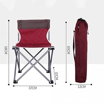 Tmendy Outdoor Camping Stuhl, tragbare leichte Klapp-Strandkorb mit Tragetasche, schwere 120 kg Kapazität für Wanderer, Camping, Strand (Farbe : Grün) - 7