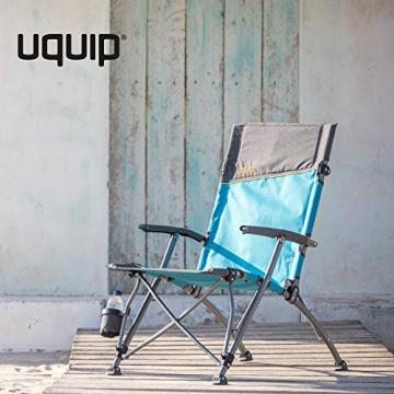 Uquip Sidney Campingstuhl - Lounge-Charakter, hohe Rückenlehne, bis 120 kg - 2