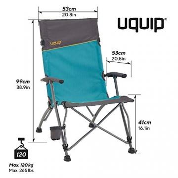 Uquip Sidney Campingstuhl - Lounge-Charakter, hohe Rückenlehne, bis 120 kg - 3