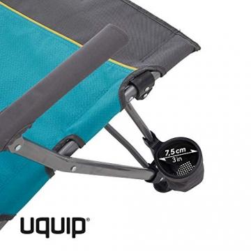 Uquip Sidney Campingstuhl - Lounge-Charakter, hohe Rückenlehne, bis 120 kg - 4