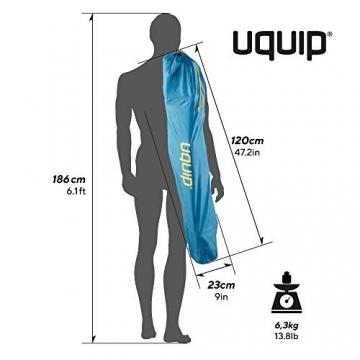 Uquip Sidney Campingstuhl - Lounge-Charakter, hohe Rückenlehne, bis 120 kg - 6