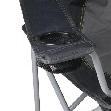 XXL Campingsofa mit 240 KG Tragkraft | 2 Getränkehalter | Doppel-Campingstuhl im Lounge-Charakter für EXTREMEN Komfort | Minimales Gewicht | für 2 Personen (Campingsofa Grau-Schwarz) - 3