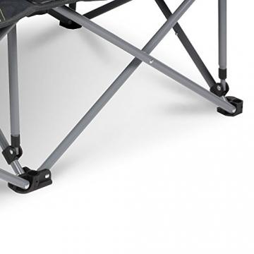 XXL Campingsofa mit 240 KG Tragkraft | 2 Getränkehalter | Doppel-Campingstuhl im Lounge-Charakter für EXTREMEN Komfort | Minimales Gewicht | für 2 Personen (Campingsofa Grau-Schwarz) - 4