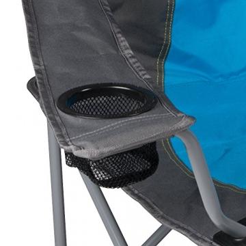 XXL Campingsofa mit 240 KG Tragkraft | 2 Getränkehalter | Doppel-Campingstuhl im Lounge-Charakter für EXTREMEN Komfort | Minimales Gewicht | für 2 Personen (Campingsofa Grau-Blau) - 3
