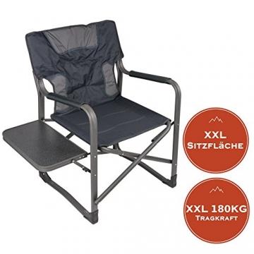 XXL Campingstuhl mit bis zu 180 KG Tragkraft, EXTREMER Komfort Dank zusätzlicher Polsterungen, XXL Schwerlaststuhl Extra Robust + Stabil bei leichtem Eigengewicht, XXL Campingstuhl mit Tisch - 3