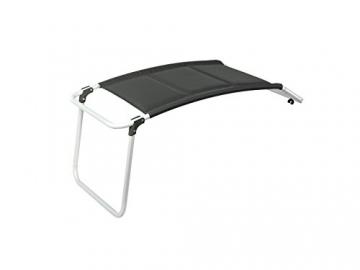 XXL stabiler Hochlehner Campingstuhl gepolstert in Anthrazit mit praktischer Fußablage - Ideal zum Relaxen - 4