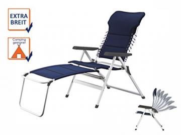 XXL stabiler Hochlehner Campingstuhl gepolstert mit praktischer Fußablage - Ideal zum Relaxen! - 2