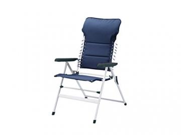 XXL stabiler Hochlehner Campingstuhl gepolstert mit praktischer Fußablage - Ideal zum Relaxen! - 3