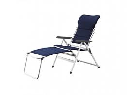 XXL stabiler Hochlehner Campingstuhl gepolstert mit praktischer Fußablage - Ideal zum Relaxen! - 1