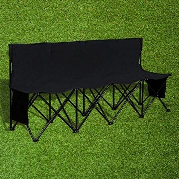 Yaheetech Campingbank tragbar Sitzbank Campingstuhl mit Tragetasche Ersatzbank Faltbank mit Lehne für 4 Personen - 2