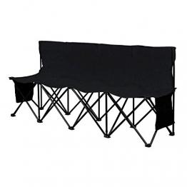 Yaheetech Campingbank tragbar Sitzbank Campingstuhl mit Tragetasche Ersatzbank Faltbank mit Lehne für 4 Personen - 1