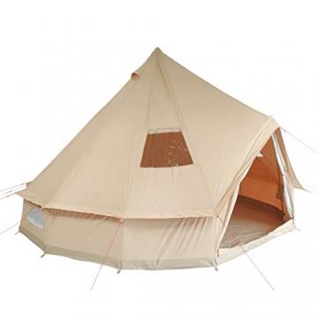 10T Camping-Zelt Desert 8 wasserdichtes 4 - 8 Mann Familienzelt Tipi aus Baumwolle-Mischgewebe - 11