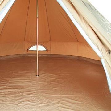 10T Camping-Zelt Desert 8 wasserdichtes 4 - 8 Mann Familienzelt Tipi aus Baumwolle-Mischgewebe - 14