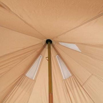 10T Camping-Zelt Desert 8 wasserdichtes 4 - 8 Mann Familienzelt Tipi aus Baumwolle-Mischgewebe - 15